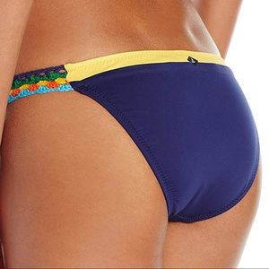Sperry Colorblock Crochet Stripe Bikini Bottom